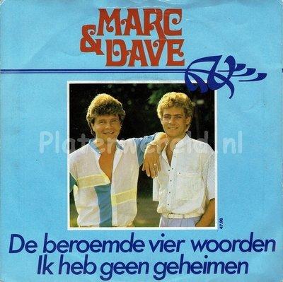 Marc & Dave - De beroemde vier woorden