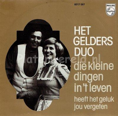 Het Gelders Duo - Heeft het geluk jou vergeten