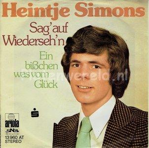 Heintje Simons - Sag' auf wiederseh'n